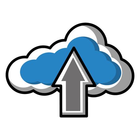 cloud computing data upload information vector illustration 向量圖像