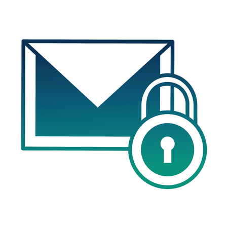 email message security data notification vector illustration  degraded color