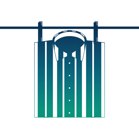checked shirt hanging rope image vector illustration  degraded color