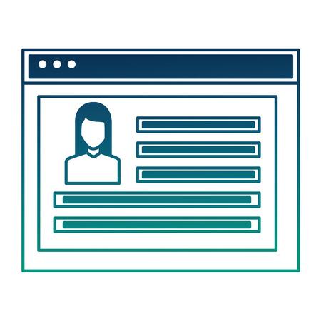 website social media profile people community vector illustration  degraded color