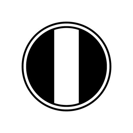 france flag in button symbol emblem vector illustration