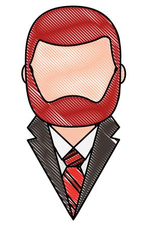 elegant man with beard character vector illustration design