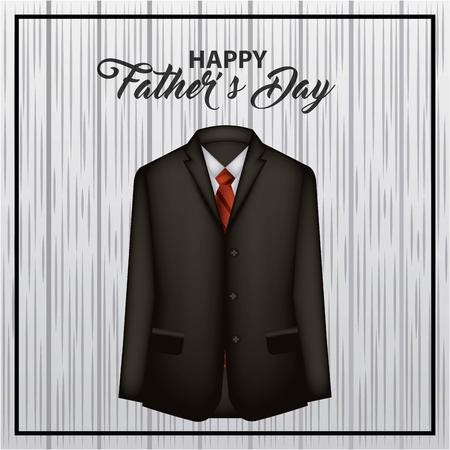 happy fathers day grunge background black suit red tie fest dad vector illustration