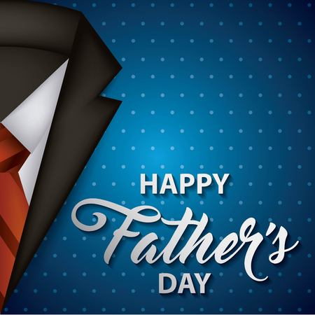 happy fathers day stripes background elegant suit with tie best date vector illustration