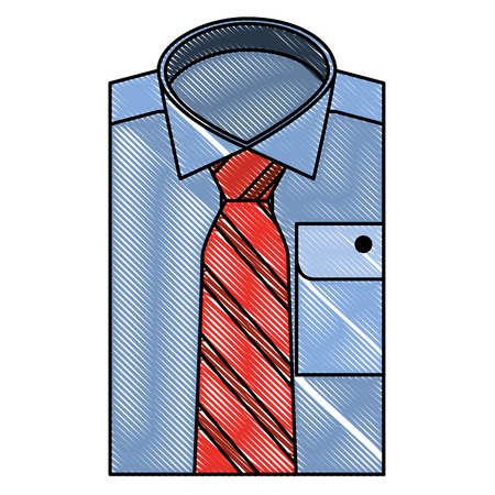 bent male shirt with necktie vector illustration design Ilustrace