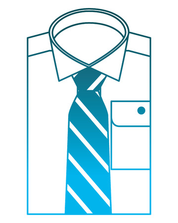 folded shirt necktie accessory male vector illustration Illustration
