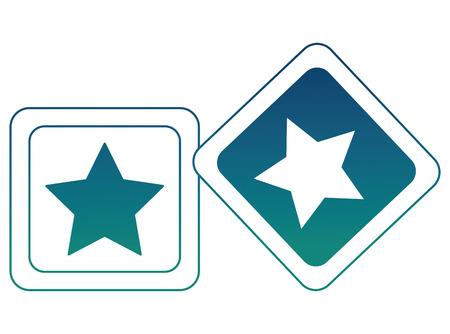 baby shower toy blocks star ornament vector illustration degraded color