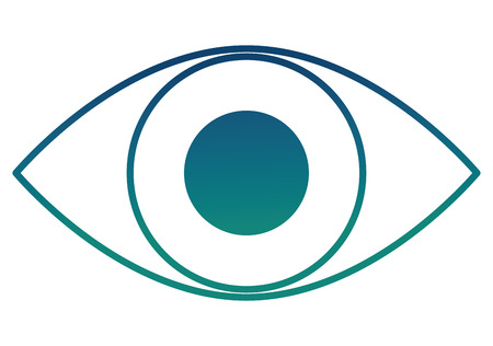 cyber security eye surveillance icon vector illustration degraded color
