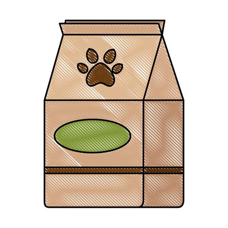pet shop paper bag vector illustration design Illustration