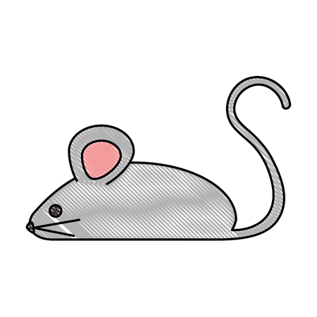 little mouse isolated icon vector illustration design