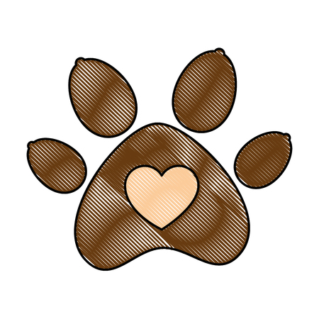 paw mascot isolated icon vector illustration design Banque d'images - 99932535