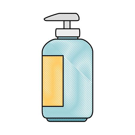 Shampoo für Maskottchen in Plastikflasche Vektor-Illustration-design Standard-Bild - 99932536