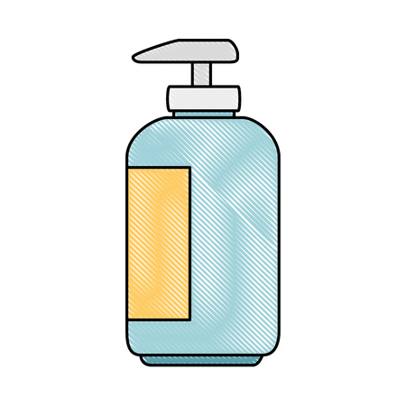 shampoo for mascots in plastic bottle vector illustration design Illustration
