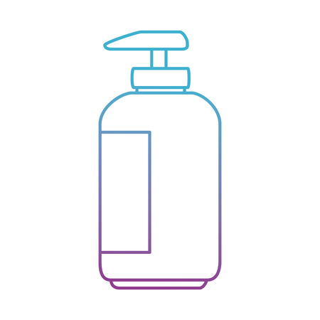 shampoo for mascots in plastic bottle vector illustration design Stock Illustratie