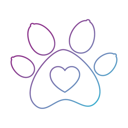 paw mascot isolated icon vector illustration design Banque d'images - 99909657