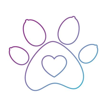 paw mascot isolated icon vector illustration design