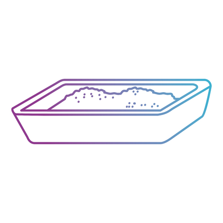 cat sand box icon vector illustration design