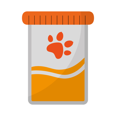mascot product bottle with paw vector illustration design