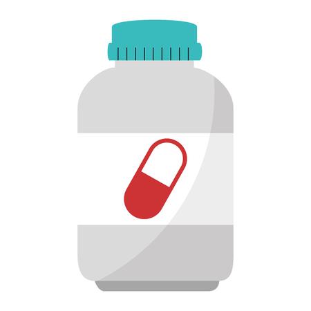 capsules botttle drugs icon vector illustration design 일러스트