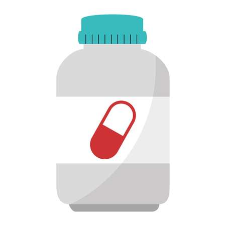 capsules botttle drugs icon vector illustration design Illustration