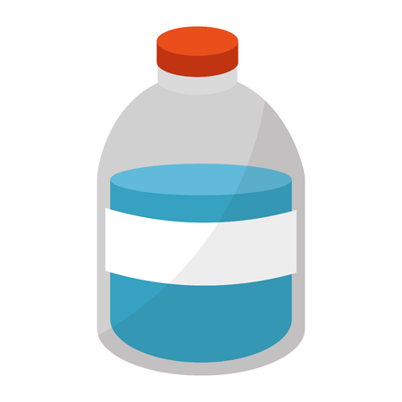 A plastic bottle with liquid product vector illustration design Illustration