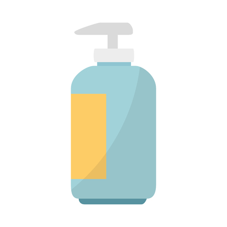 Shampoo in plastic bottle vector illustration design