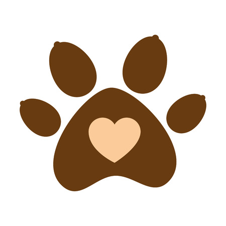 Paw isolated icon vector illustration design