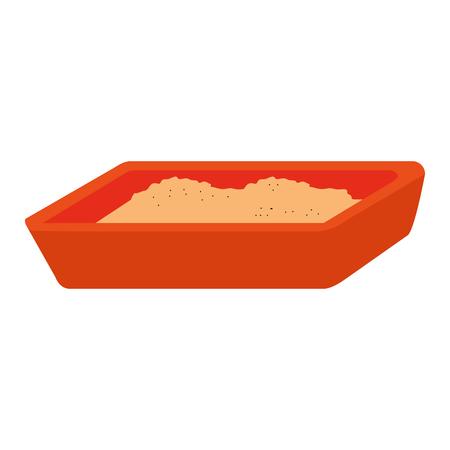 A sand box icon vector illustration design