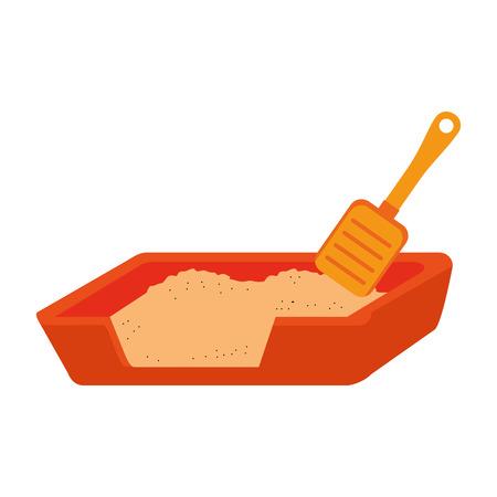 A sand box with shovel vector illustration design Stock Illustratie