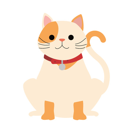 かわいい猫マスコット文字ベクトルイラストデザイン