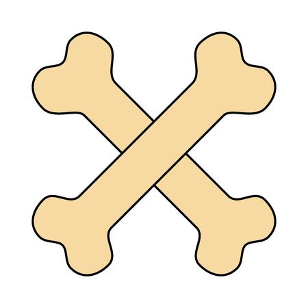 bones crossed toy mascot icon vector illustration design