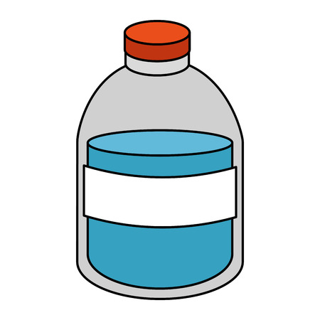 plastic bottle with liquid product vector illustration design