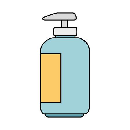 Shampoo für Maskottchen in Plastikflasche Vektor-Illustration-design Standard-Bild - 99917128