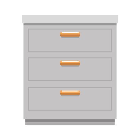 office drawer isolated icon vector illustration design Ilustracja