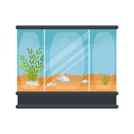 square aquarium without fish icon vector illustration design 向量圖像