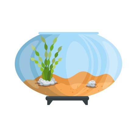 aquarium bowl without fish icon vector illustration design