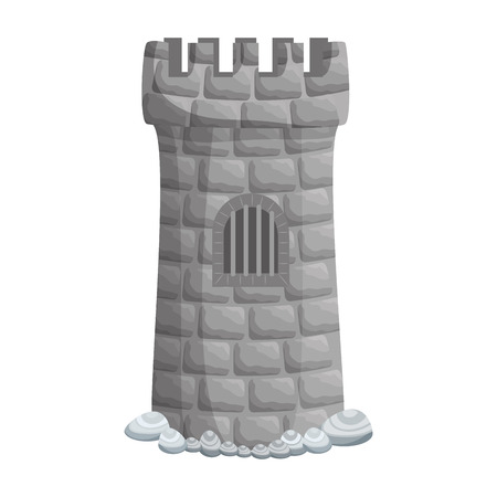 castle tower aquarium decoration vector illustration design Illusztráció