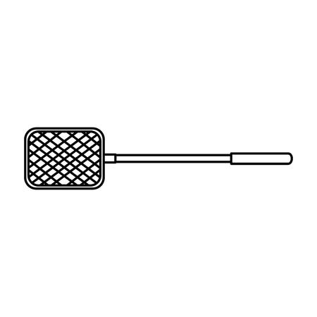 aquarium cleaning net icon vector illustration design Foto de archivo - 99917201