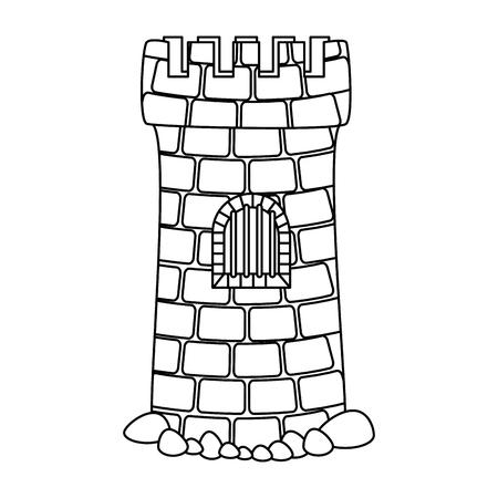 castle tower aquarium decoration vector illustration design Illustration