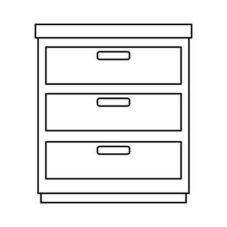 office drawer isolated icon vector illustration design Archivio Fotografico - 99932630