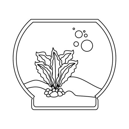 An aquarium bowl without fish icon.