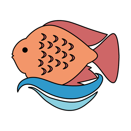 Cute ornamental fish icon vector illustration design.