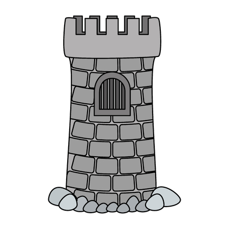 castle tower aquarium decoration vector illustration design 일러스트
