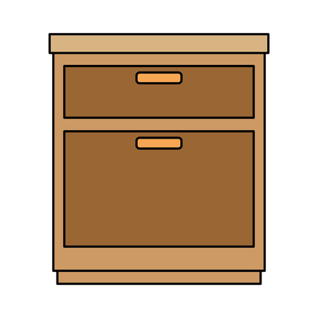 An office drawer isolated icon vector illustration design