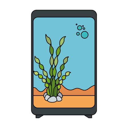 A rectangular aquarium without fish icon vector illustration design Иллюстрация