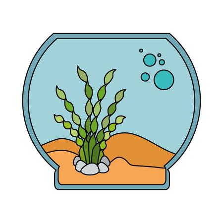 An aquarium bowl without fish icon vector illustration design