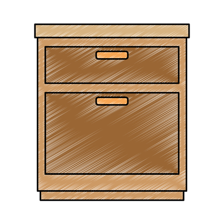 Office drawer isolated icon vector illustration design Archivio Fotografico - 99936655