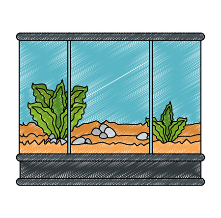 Square aquarium without fish icon vector illustration design