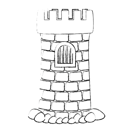 castle tower aquarium decoration vector illustration design 向量圖像