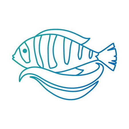 Cute ornamental fish icon. Illustration